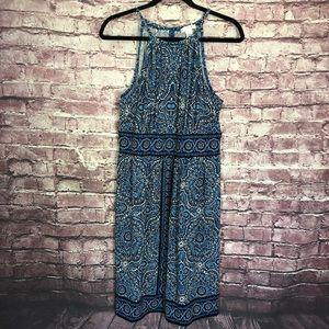 London Times blue print dress size 14
